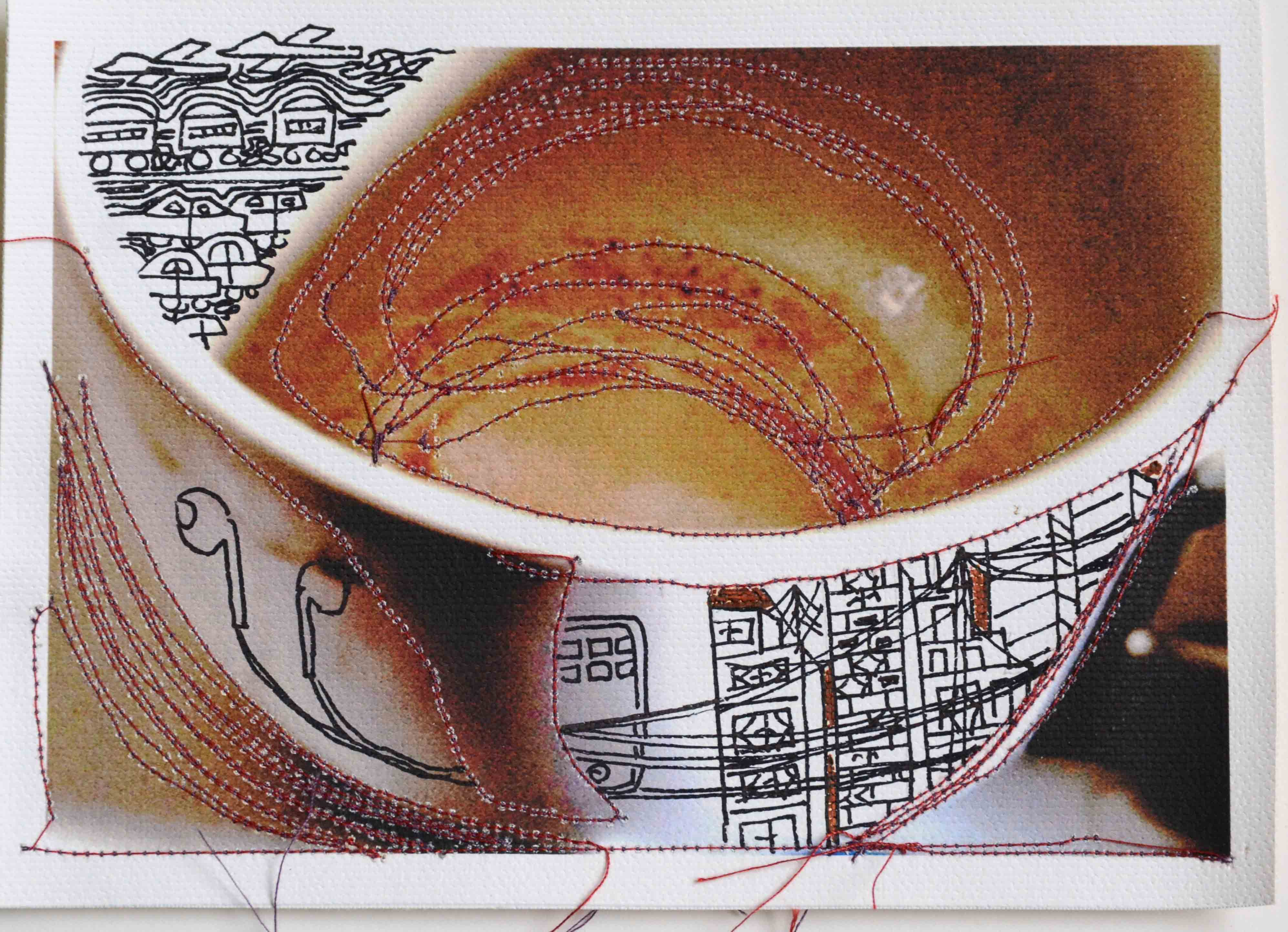 The Universe in My Tea-cup, [Set of 30], 2015, [10.25 x 8.5 inches - framed]